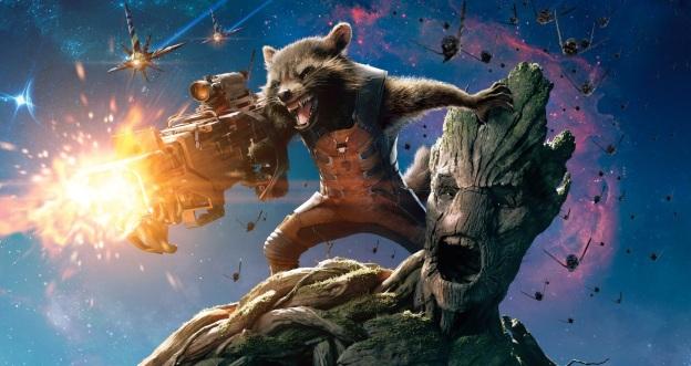 Rocket och Groot är ett härligt radarpar.